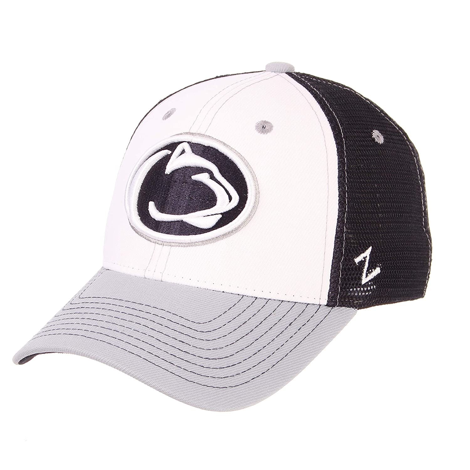 Zephyr Mens Threepeat Relaxed Cap Adjustable White//Team Color