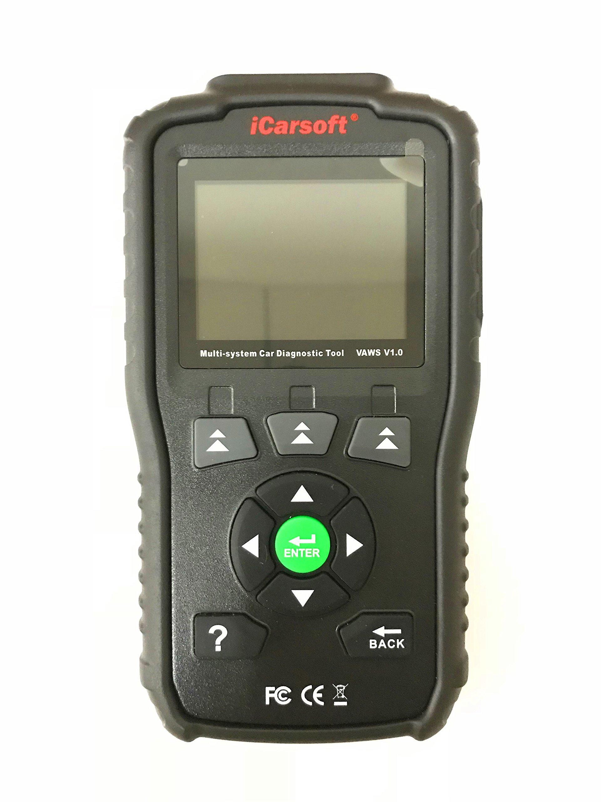 iCarsoft Professional Multi-system OBD II scanner VAWS V1.0 With Oil Service Reset for Audi/VW/Seat/Skoda (black)