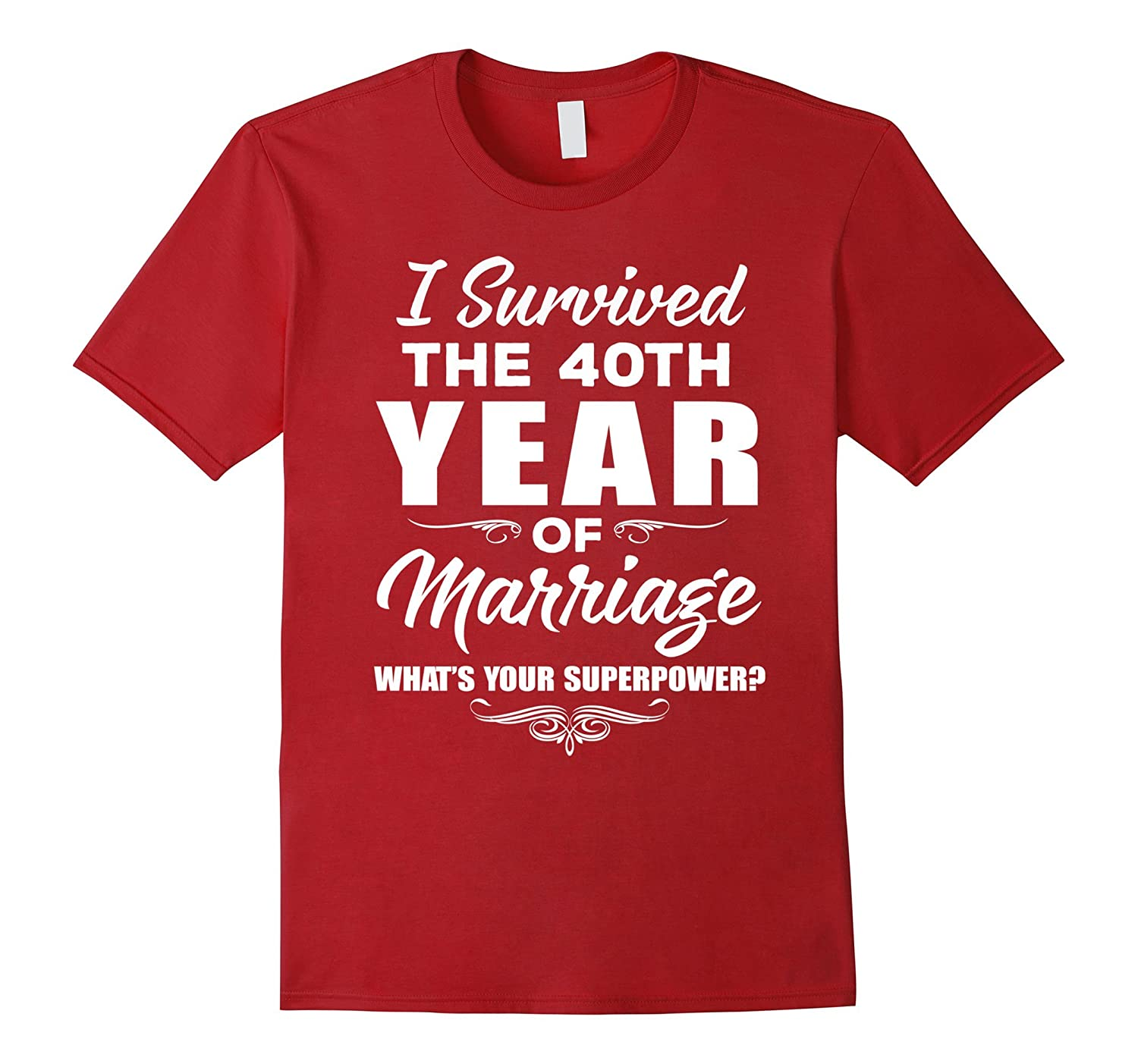 I Survived T-Shirt - 40th Wedding Anniversary Gift Ideas-Vaci