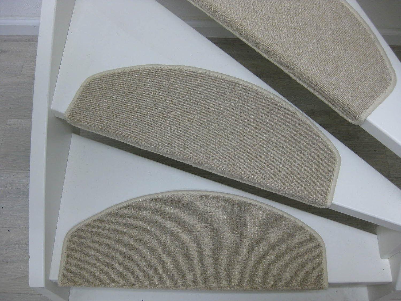 hard coal grey beige Beige Teppichwahl Bali Carpet stair pads//treads 65 x 25 cm brown