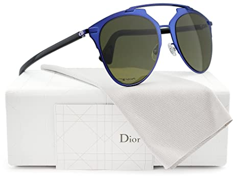 ea6a05b9211 Image Unavailable. Image not available for. Color  Christian Dior Reflected S  Sunglasses Shiny Blue w Dark Green ...