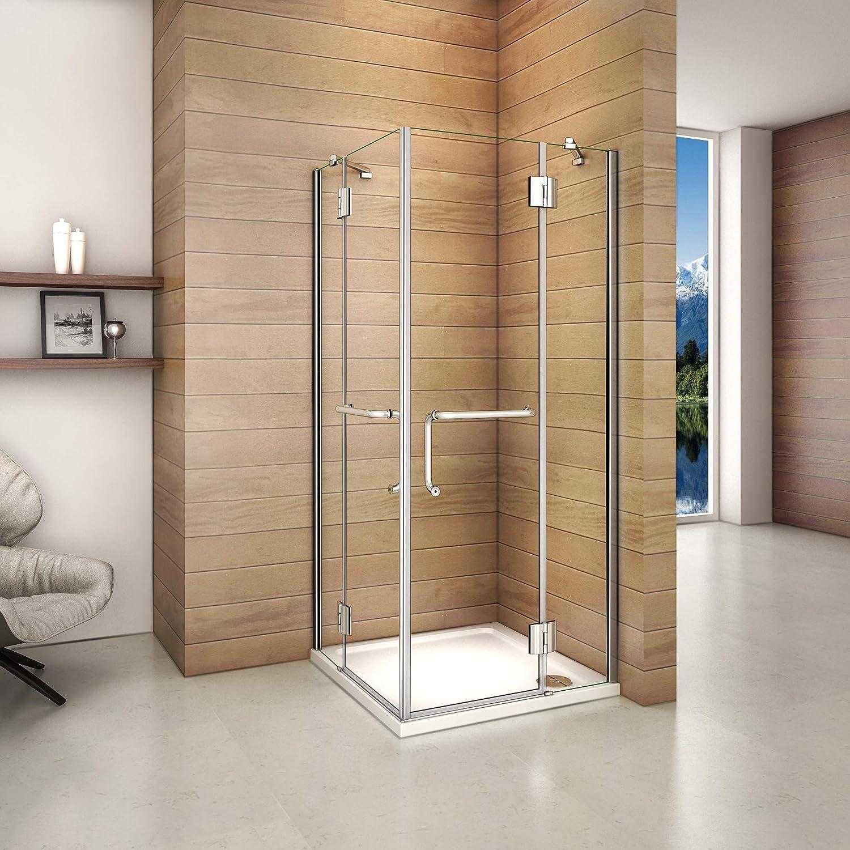 Mamparas Cabina de Ducha cristal 8mm Puerta Abatible de Baño 120x120x190cm: Amazon.es: Bricolaje y herramientas