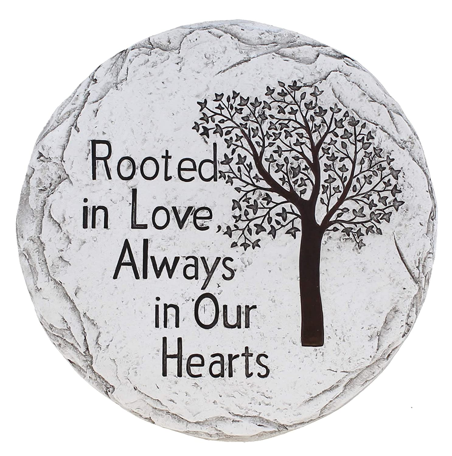 Old River Outdoors Garden Memorial Stepping Stone - Rooted in Love, Always in Our Hearts - Tree of Life