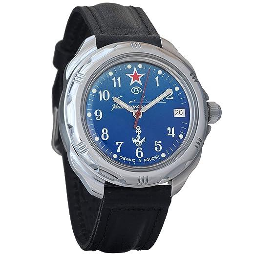 a095b01f6921 Vostok Komandirskie Military Russian Mechanical Mens Wrist Watch  2414 211289  Amazon.co.uk  Watches