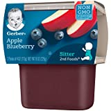Gerber 2nd Foods Apple Blueberry, 4 oz Tubs, 2
