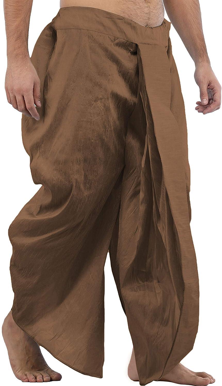 Maenner-Dhoti-Dupion-Silk-Plain-handgefertigt-fuer-Pooja-Casual-Hochzeit-Wear Indexbild 39