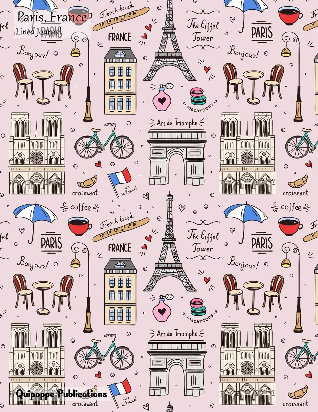Download Paris, France Lined Journal: Large College Ruled Notebook With Paris Buildings Pattern Cover pdf epub