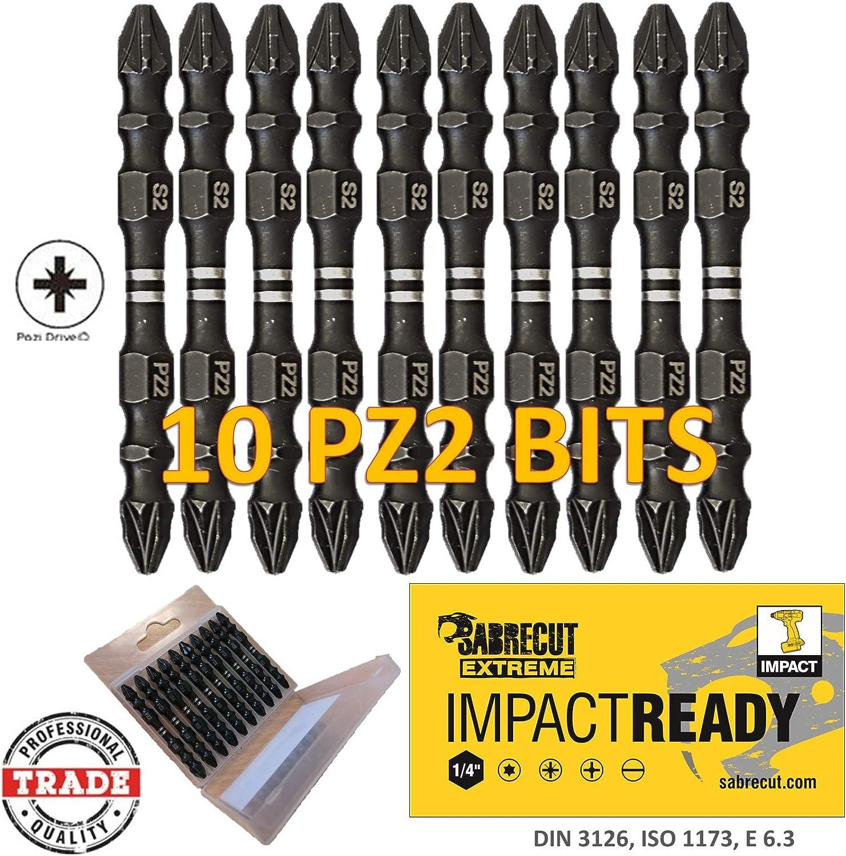 Noir lot de 3 Triton TPTA51892753 PZ2 110 mm Tournevis Pozi Impact