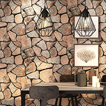 Birwall Faux Rustic Brick Stone Wallpaper Wall Paper For Livingroom Kitchen Bedroom 20 8 In32 8 Ft 57 Sq Ft Amazon Com