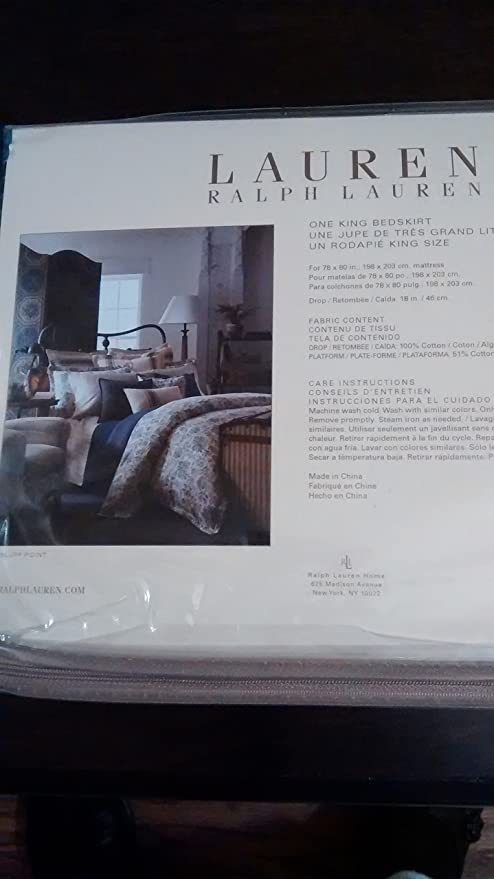 Amazon.com: Lauren Ralph Lauren Home Bluff Point King Bedskirt: Home & Kitchen