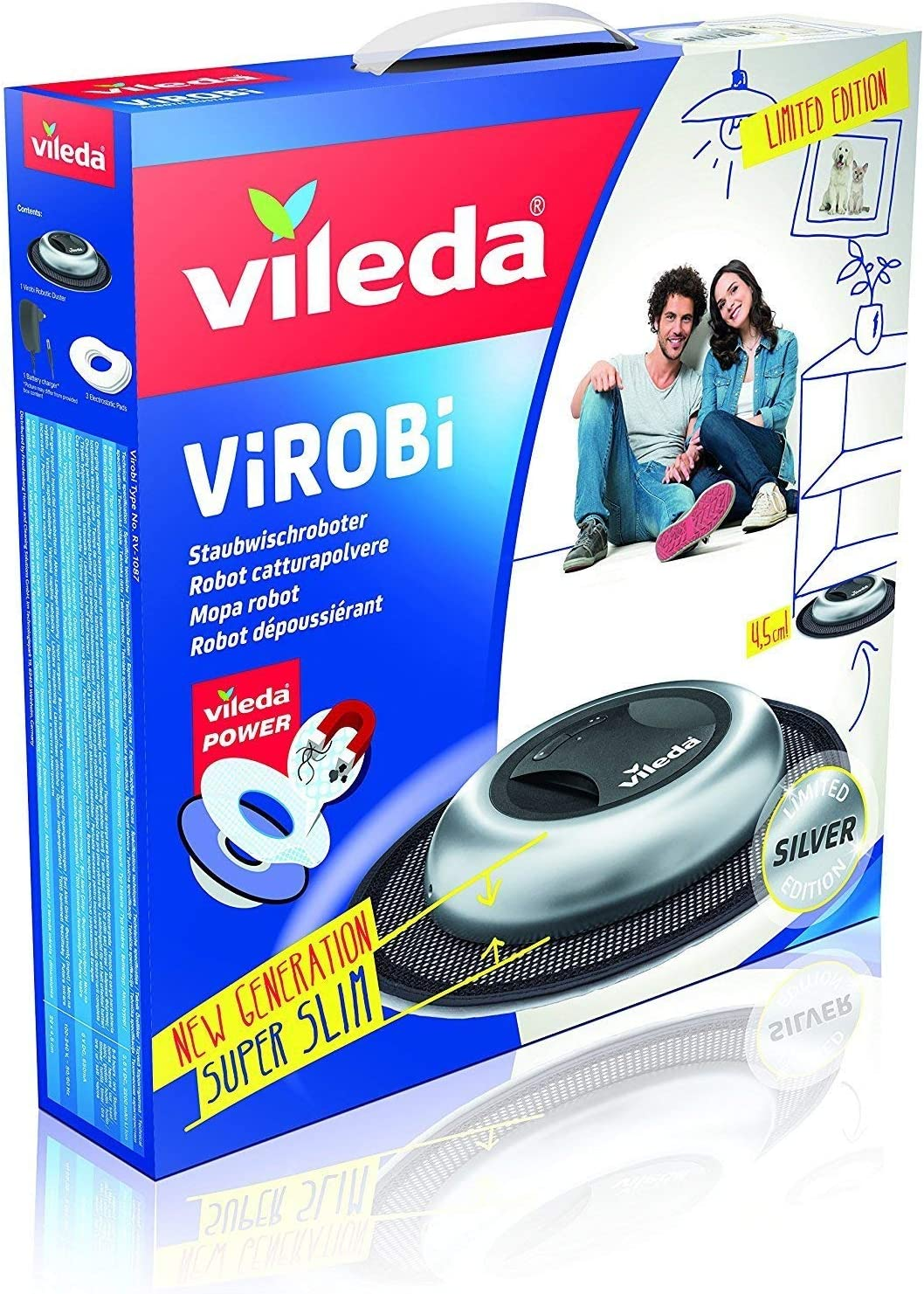 Vileda Virobi Robot limpiador mopa autónomo, Plástico, Plateado ...