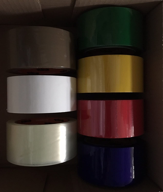 1, ROSSO NASTRO ADESIVO 50mm x 66 Metri in PPL a scorrimento silenzioso Made in Italy