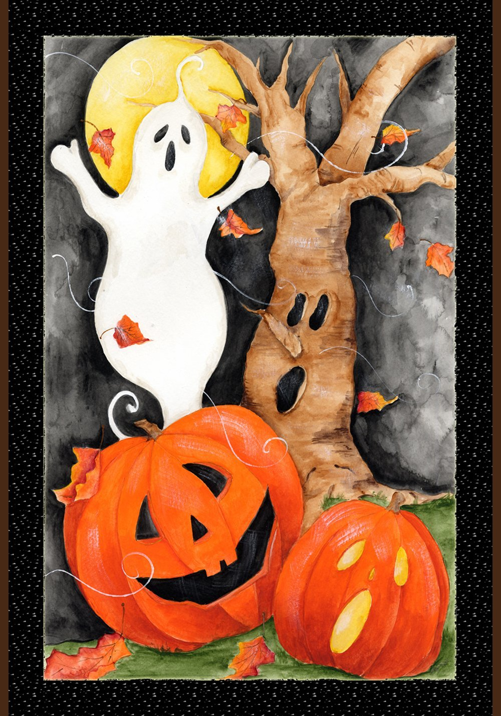 Toland Home Garden Halloween Scene 12.5 x 18 Inch Decorative Spooky Ghost Pumpkin Garden Flag