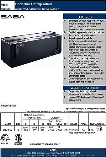 Amazon Com Saba 95 Bottle Cooler Appliances