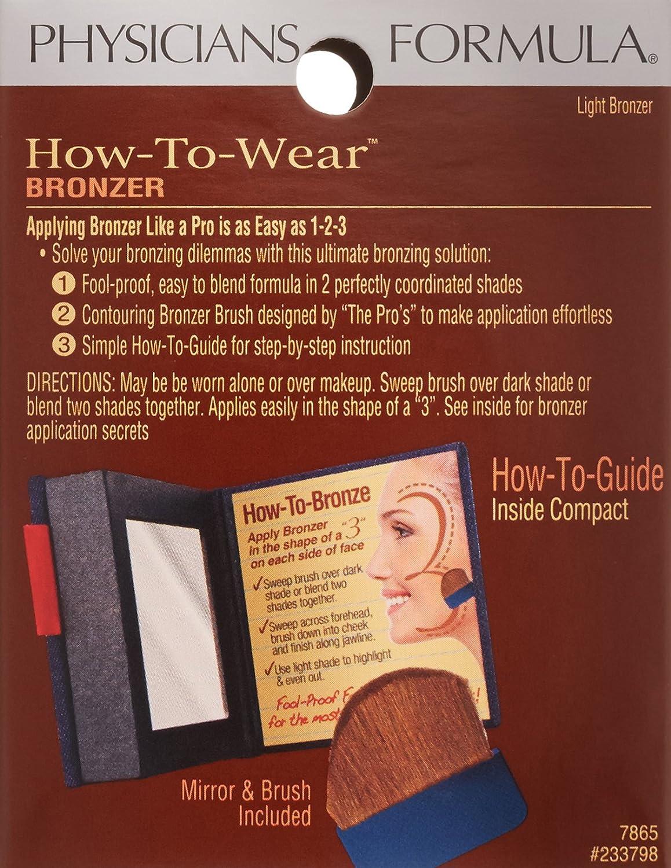 Amazon : Physicians Formula Howtowear Bronzer, Light Bronzer, 026  Ounce : Makeup : Beauty