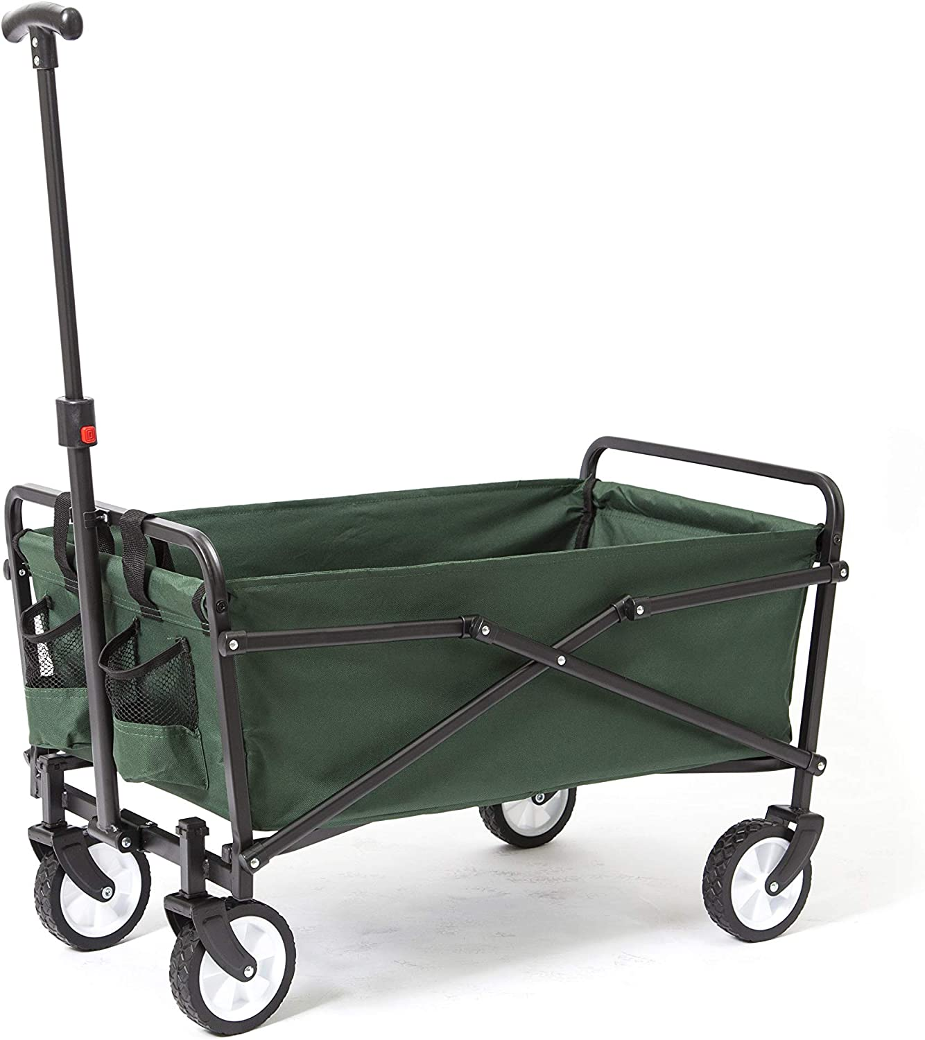 2 Pack Green Seina Collapsible Steel Frame Folding Utility Beach Wagon Cart