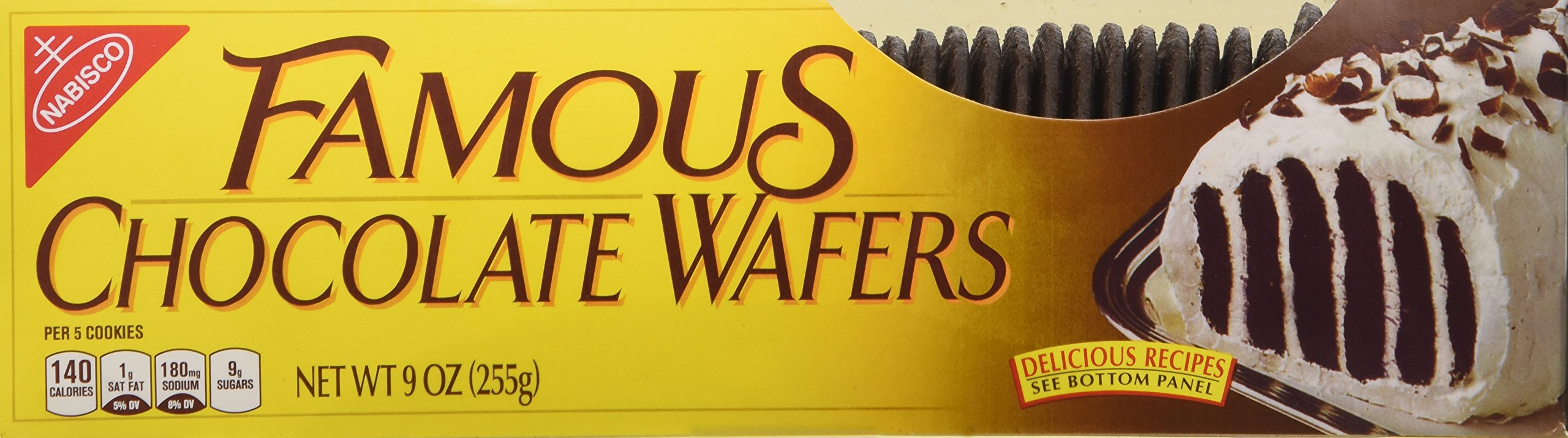 Nabisco, Famous Chocolate Wafers, 9oz Container (Pack of 2) by Nabisco