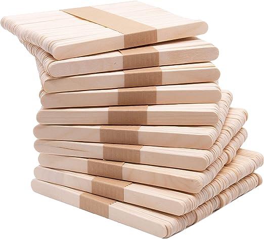 Zollner24 500 palos de madera para manualidades y helados, madera ...