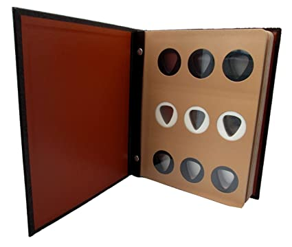 Leatherette Guitar Pick Storage Album For 63 Picks *Made In USA*