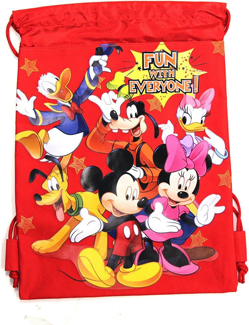 Red Mickey Mouse Drawstring Backpack - Mickey Mouse Drawstring Bag