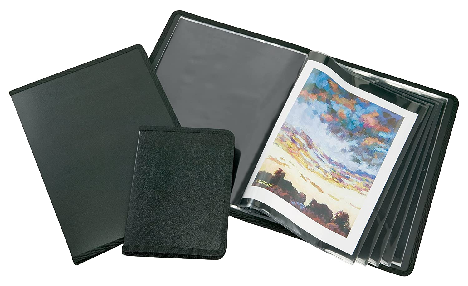 8.5 x11 Inches Ideal for Storing and Displaying Artworks Art Presentation Book Alvin Black