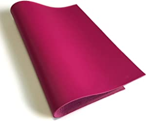 Real Raspberry Rose Leather Material: Genuine Bright Pink Lambskin Leather Sheet for Crafting, Sewing and Personalized Leather Projects (Raspberry Rose, 12x12In/ 30x30cm)