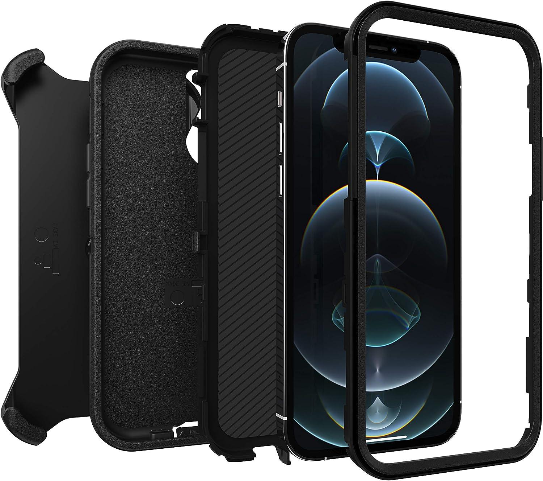 Otterbox Defender Robuste Sturzsichere Und 3 Lagige Schutzhülle Für Apple Iphone 12 12 Pro Schwarz Ohne Einzelhandelsverpackung Elektronik