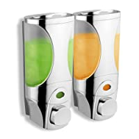 HotelSpa Curves Luxury Soap/Shampoo/Lotion Modular-design Shower Dispenser System (Pack of 2)