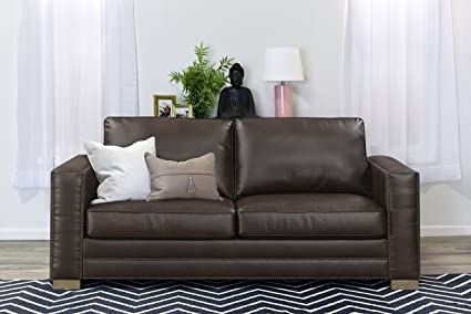 Wondrous Serta Mason 81 Sofa In Brown Bonded Leather Gmtry Best Dining Table And Chair Ideas Images Gmtryco