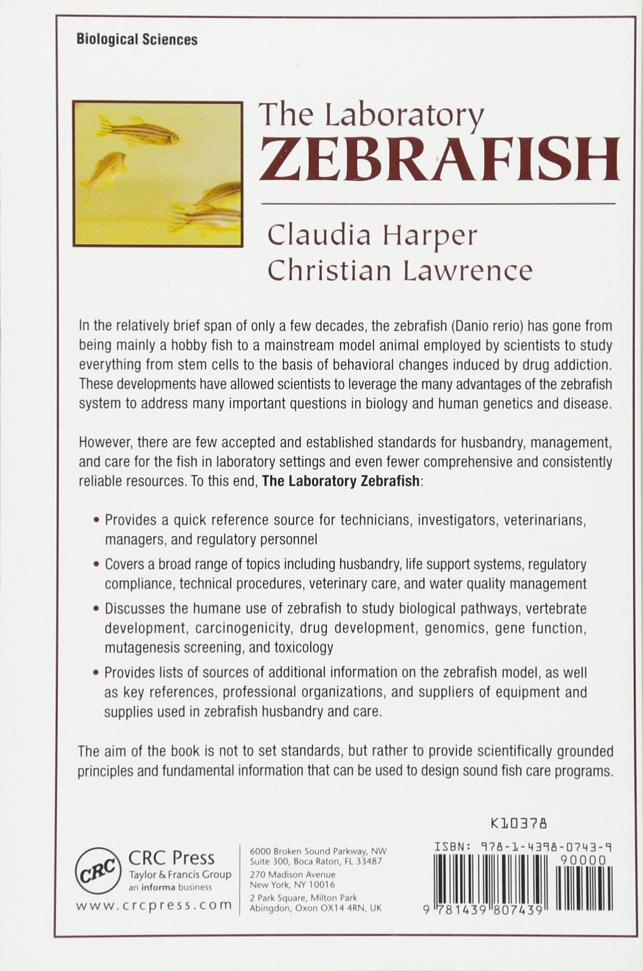 The Laboratory Zebrafish (Laboratory Animal Pocket Reference) (Volume 16) by CRC Press (Image #2)