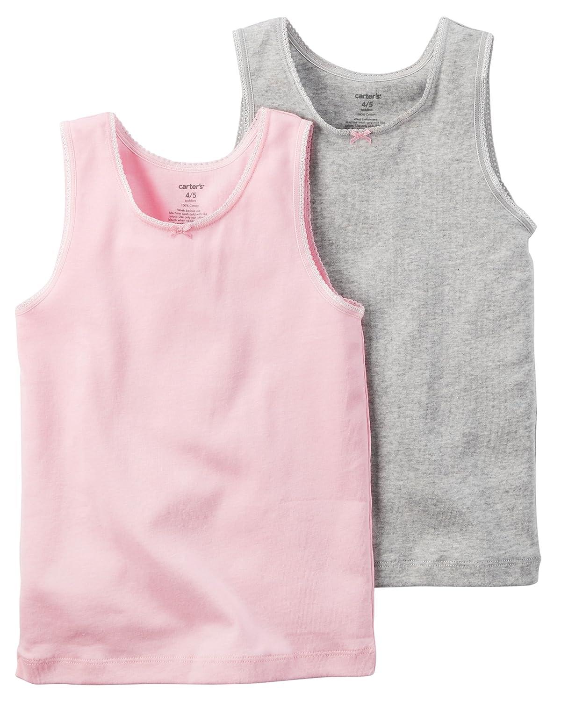Carter's Little Girls' 2 Pack Cotton Tank Undershirts