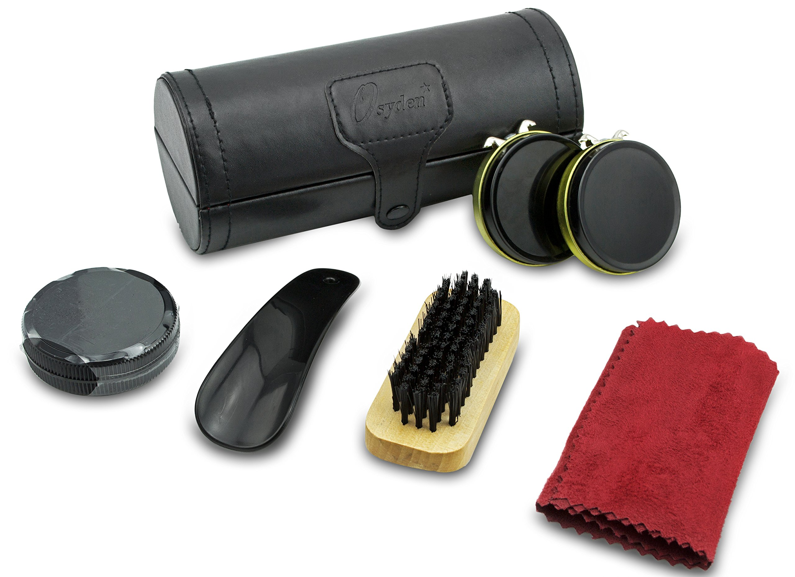 Shoe Shine Kit Keeps Leather Shoes Shiny. This Shoe Polish Set Will Complete Your Business Executive Look. Use for Shoe Care with All Supplies Such As Brush, Buffer, Sponge, Cloth for Cleaning Boots & Loafers. A Shoeshine Valet Gift for Him Men Boss Fathe