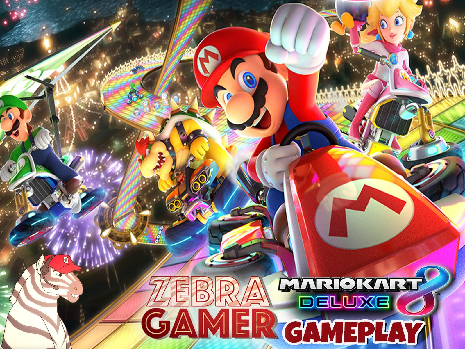 Mario Kart 8 Deluxe Gameplay on Amazon Prime Video UK