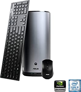 Asus ProArt PA90 Mini PC Isv-Certified Workstation, Intel i7-9700K, NVIDIA Quadro P4000 Graphics, 512GB SSD, 1TB HDD, 16GB DDR4, Bluetooth Keyboard & Mouse, DisplayPort, 802.11AC Wifi, Bluetooth 5.0