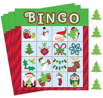 International Amscan es Juego De 395074 Navidad BingoAmazon zpSMVqUG