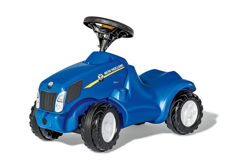 Rolly Toys 132089 rollyMinitrac New New New Holland T6010   Rutscher Traktor mit Flüsterreifen, Motorhaube zum Öffnen und Hupe   ab 1,5 Jahren   Farbe blau ef61cc