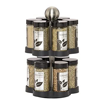 Kamenstein Madison 12 Jar Revolving Spice Rack With Free Spice Refills For  5 Years