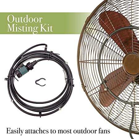 """12/"""" Low Pressure Cool Mist 4 Nozzles Clip-on Fan Mister Misting Cooling Ring"""