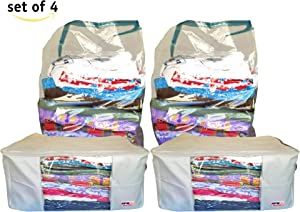 THE USA FACTORY Blankets Storage Bags and Vacuum Plastic Bags to Store Pillows,comforters,Blankets,Winter Clothing,Sleeping Bags,Off-Season Clothes,Under Bed Organizer,etc.