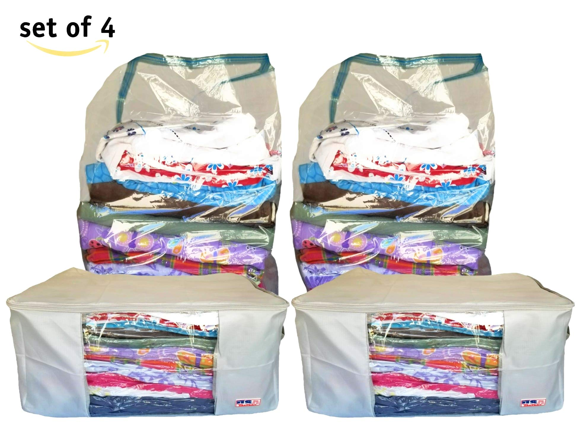 THE USA FACTORY Blankets Storage Bags and Vacuum Plastic Bags to Store Pillows,comforters,Blankets,Winter Clothing,Sleeping Bags,Off-Season Clothes,Under Bed Organizer,etc. by THE USA FACTORY