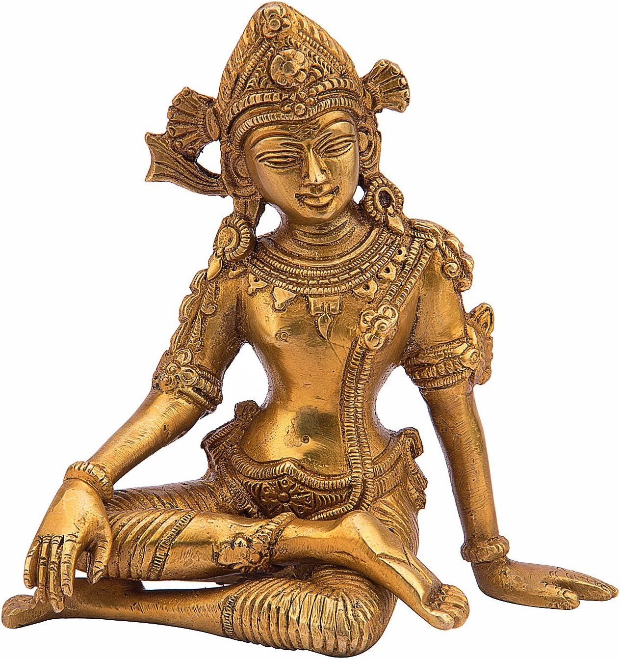 Kartique Brass Murti of Lord Indra Dev  Length 6 inches   Height 6 inches   Vastu Remedy   FengShui
