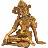 Kartique Brass Murti of Lord Indra Dev| Length 6 inches | Height 6 inches | Vastu Remedy | FengShui