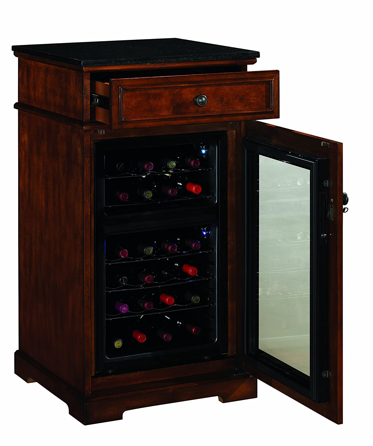 amazoncom madison thermoelectric wine coolers in rose cherry  - amazoncom madison thermoelectric wine coolers in rose cherry wine coolerfurniture cherry kitchen  dining