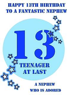 Nephew 13 Birthday Card