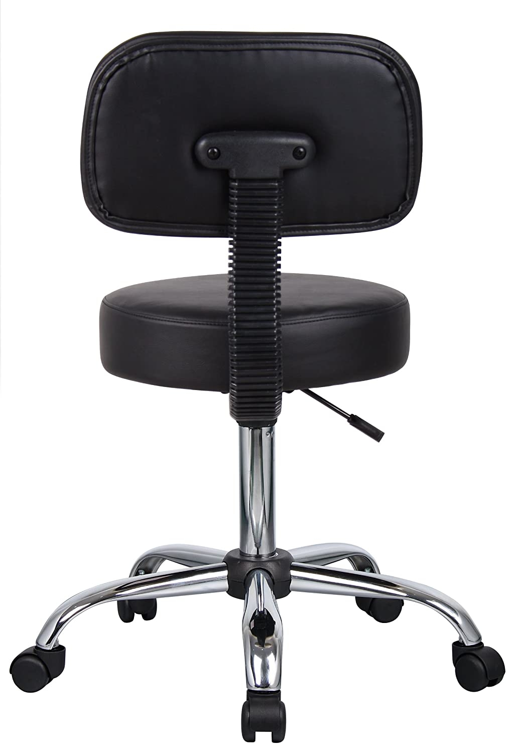 amazoncom boss office products b245bk be well medical spa stool with back in black kitchen u0026 dining