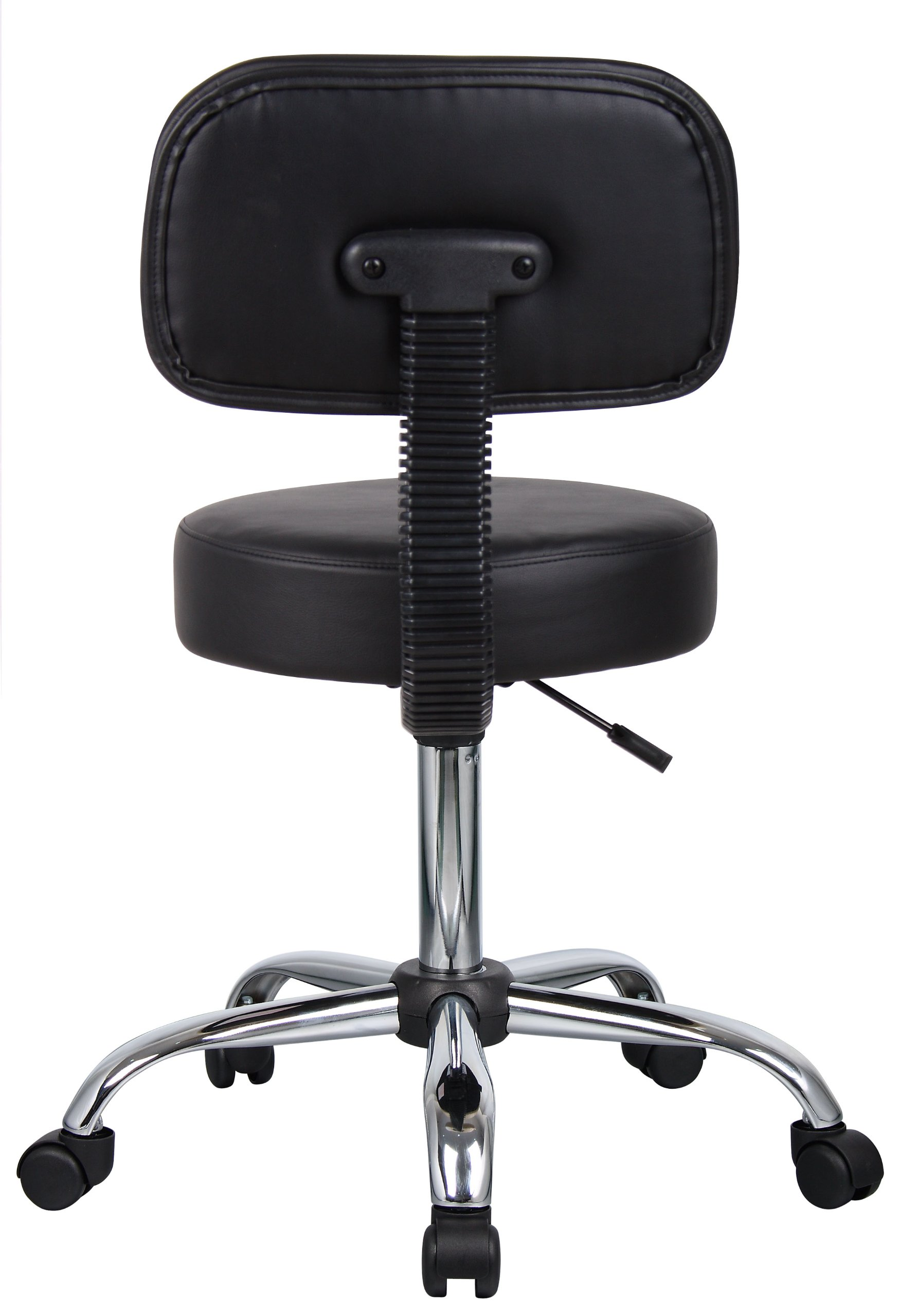 Boss Office Products B245-BK Be Well Medical Spa Stool with Back in Black by Boss Office Products (Image #2)