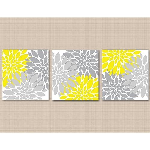 Gray and Yellow Wall Decor: Amazon.com