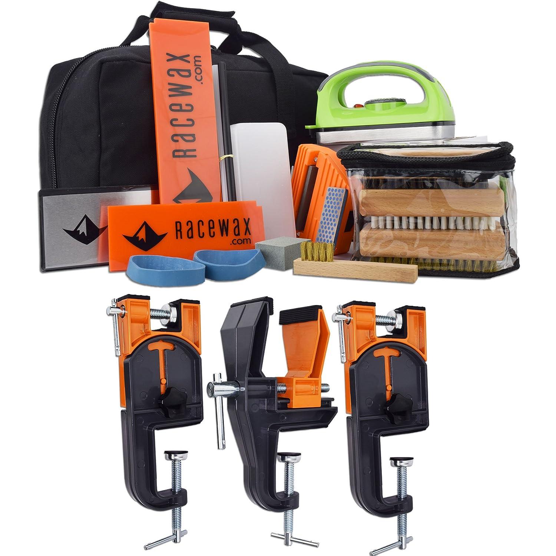 873356ccfc Amazon.com  RaceWax Complete Ski Wax Tuning Kit Plus Ski Vise (Accepts  Snowboard Adapter)  Sports   Outdoors