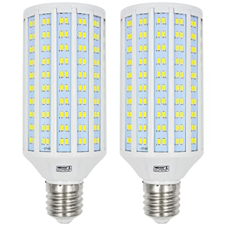 MENGS® Pack de 2 LED Bombillas Lámpara E40 50W Blanco frío 6500K AC 85-