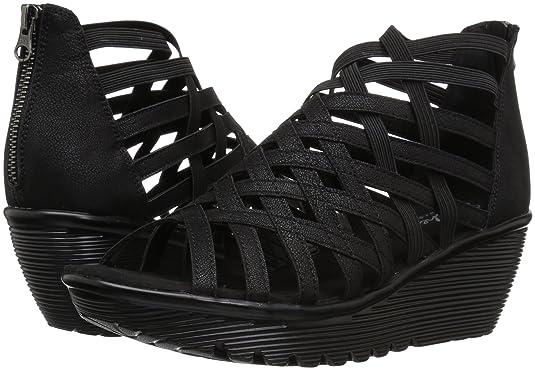 fdeba718a6 Amazon.com   Skechers Women's Parallel - Dream Queen Wedge Sandal    Platforms & Wedges